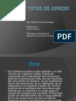 Error y Tipos de Error