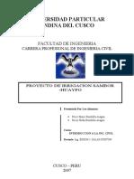 Proyecto Sambor