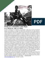 Poema de Constantine Lema Rojas LA CIENCIA de LA VIDA