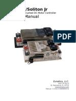 Soliton Manual 1v4 RevSoliton1/Soliton Jr 300kW/150kW Brushed DC Motor Controller