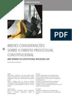 Breves considerações sobre o direito processual constitucional