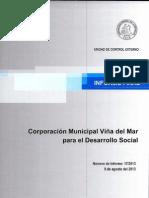 INFORME FINAL 17-13 CORPORACI+ôN MUNICIPAL VI+æA DEL MAR PARA EL DESARROLLO SOCIAL - AGOSTO 2013