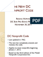 The New Dc Nonprofit Code
