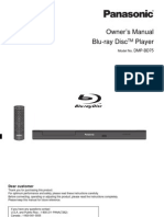 Panasonic DMP-BD75 Owners Manual Blu-Ray Player