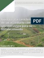 Cuadernillo Nº2  Guía para la caracterización de un acueducto comunitario