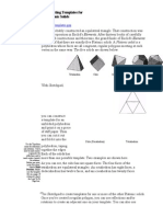 Constructing Templates for the Platonic Solids