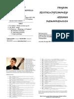 PROGRAM Recitalu Dyplomowego