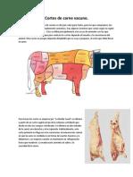 Cortes de Carne Res
