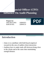 Chief Financial Officer (CFO) Influence on Audit Planning