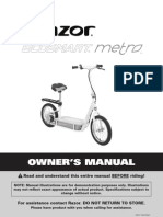 Razor Scooter EcoSmartMetro MANUAL v2