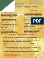 Cartel Temperamento y Caracter 2012