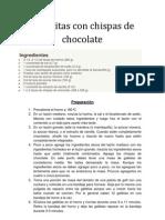 Galletitas Con Chispas de Chocolate