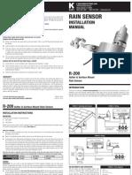 K-Rain Sensor Installation Guide