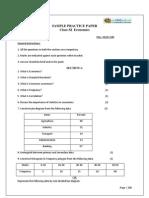 CBSE Class 11 Economics Sample Paper-05