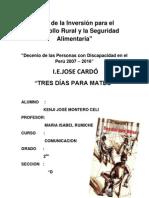 Analisis de La Obra Literaria Tres Dias Para Mateo