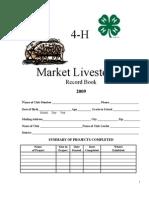 2009 Market Livestock Record Book