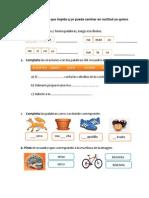 Ordena las sílabas y forma palabras