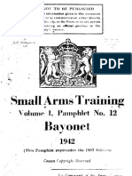 Small Arms Training (British) Bayonet - 1942