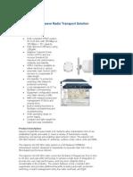 SDH Digital Microwave Radio Transport Solution