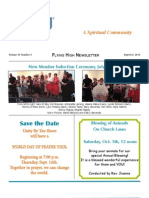 Flying High Newsletter Sept/Oct 2013 - Unity by The Shore, New Jersey