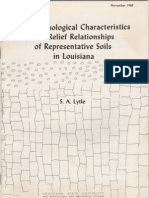 The Morphological Characteristics and Relief Relationships of Representative Soils in Louisiana