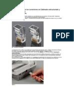 Características de los conectores en Cableado estructurado y telefonía