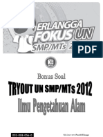 Soal Try Out IPA SMP ((Erlangga)