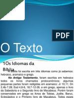 Aula 4 - O Texto Bíblico