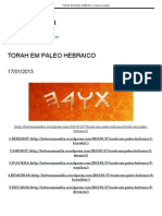 Torah Em Paleo Hebraico _ Hebreu Israelita