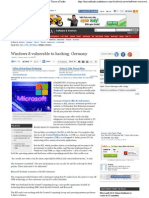 Windows 8 Vulnerable to Hacking