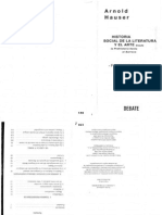 HAUSER - Historia Social de La Literatura y El Arte (Caps. v.renacimiento y VI.manierismo)