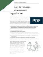 Gestion de Recursos Humanos en La Organizacion
