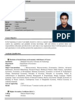 Example of a Standard CV