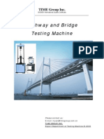 Highway and Bridge Testing Machine