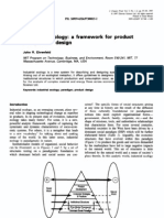 Industrial Ecology a Framework