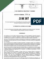 DECRETO 2784 DE 2012 ley 1314 de 2009