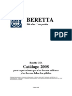 Beretta Us Ale Military Export Catalog Spanish