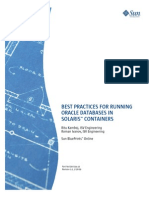 Best Practices for Running Oracle Databases in Solaris™ Containers
