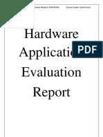 Hardware Application Evaluation Report