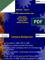 Cisco ERP v12 - case study analysis