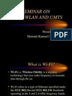PPT on Wi-fi, WLAN, UMTS