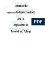 Essay Reserves to Production Ratio, Trinidad and Tobago Context