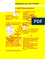 Units and Measurement Xl Question Paper