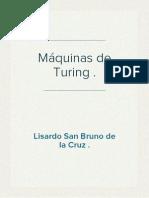 Máquinas  de Turing.