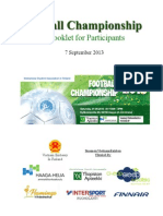 2013 Football Championship Booklet
