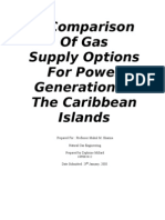 A Comparison of Gas Supply Options for Power Generation in the Caribbean Islands