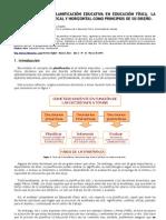 EL PROCESO DE LA PLANIFICACIÓN EDUCATIVA EN EDUCACIÓN FÍSICA
