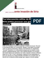 La inminente invasión de Siria