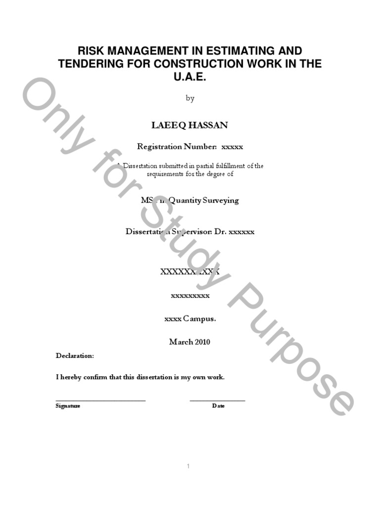 Risk management in estimating and tendering for construction work risk management in estimating and tendering for construction work in the uae procurement dubai xflitez Image collections