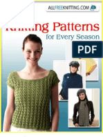 15 Free Cute Knitting Patterns for Every Season